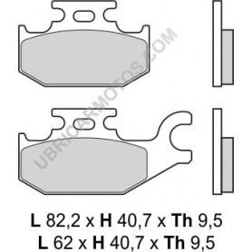 Pastillas Suzuki Burgman 125 07- Traseras Brembo Carbon Ceramico