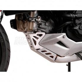 Cubre carter Ducati Multistrada 1200 / S 2010-14 SW-MOTECH Plateado